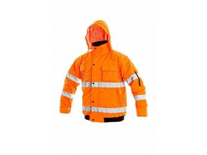 LEEDS reflexní zimní bunda oranžová (Velikost/varianta 3XL)