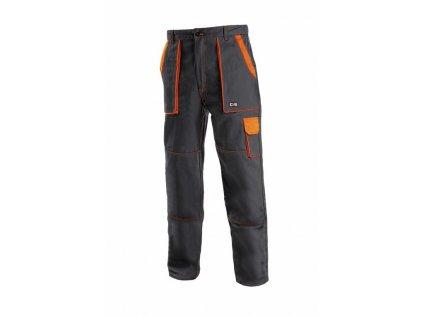 Canis CXS LUXY JOSEF monterkové kalhoty do pasu černo-oranžové (Velikost/varianta 68)