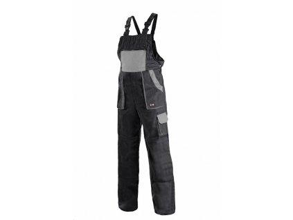 Canis CXS LUXY ROBIN kalhoty s náprsenkou černo-šedé (Velikost/varianta 68)