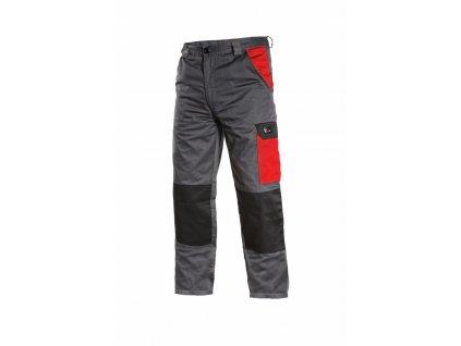 PHOENIX CEFEUS pracovní kalhoty do pasu šedo-červené (Velikost/varianta 64)