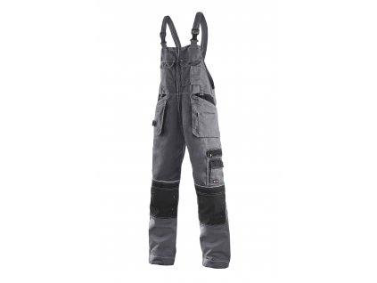 ORION KRYŠTOF kalhoty s náprsenkou prodloužené šedo-černé (Velikost/varianta 62)
