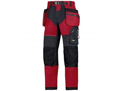 FLEXIWORK+ s PK pracovní kalhoty červené (Velikost/varianta 64)