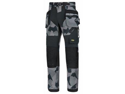 FLEXIWORK+ s PK  pracovní kalhoty camouflage šedé (Velikost/varianta 64)