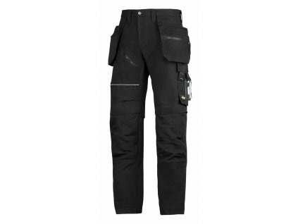 RUFFWORK+, s pouzdrovými kapsami pracovní kalhoty černé (Velikost/varianta 64)