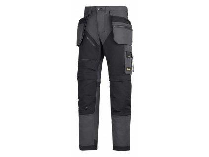 RUFFWORK+, s pouzdrovými kapsami pracovní kalhoty černo- šedé (Velikost/varianta 64)