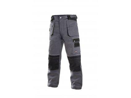 ORION TEODOR  montérkové kalhoty do pasu zateplené šedo-černé (Velikost/varianta 62)