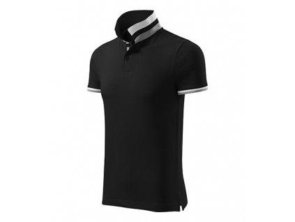 Collar Up polokošile pánská černá
