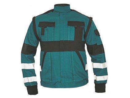 MAX RFLX montérková bunda zelená-černá (Velikost/varianta 64)