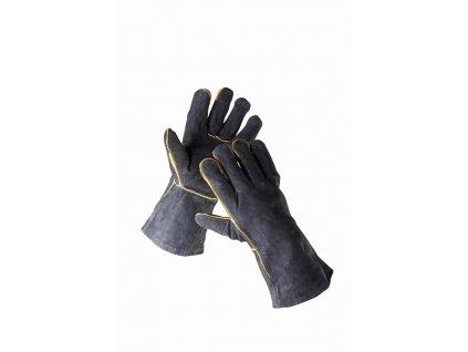 SANDPIPER BLACK rukavice svářecí z hov. štípenky délka 35 cm černé (Velikost/varianta 11)