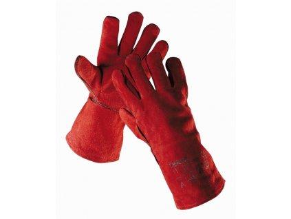 SANDPIPER RED rukavice svářecí z hov. štípenky délka 35 cm červené (Velikost/varianta 12)