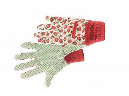 FRESH FRUIT rukavice s PVC terčíky červené (Velikost/varianta 08)