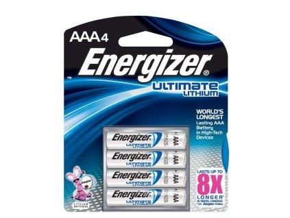 ENERGIZER Lithium Ultimate baterie mikrotužková AAA 4 (Velikost/varianta UNI)