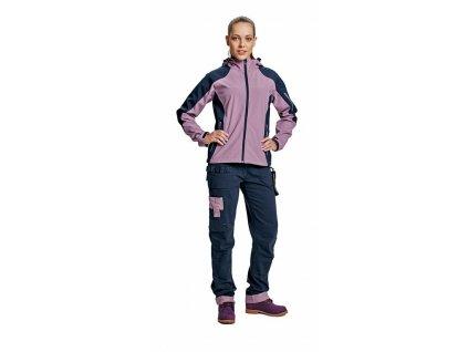 YOWIE softshellová bunda fialovo-modrá (Velikost/varianta 2XL)