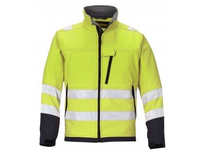 Softshell reflexní bunda žlutá (Velikost/varianta 3XL)