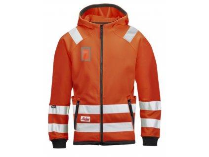 Mikrofleece reflexní bunda s kapucí oranžová (Velikost/varianta 3XL)