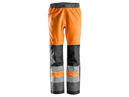 AllroundWork nepromokavé reflexní kalhoty oranžové (Velikost/varianta 3XL)