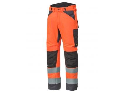 AllroundWork zimní reflexní kalhoty oranžové (Velikost/varianta 2XL)