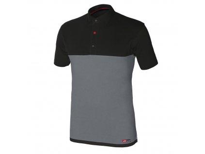 STRETCH polo tričko krátký rukáv šedé (Velikost/varianta 3XL)