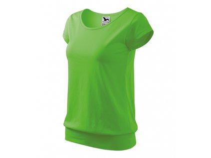 City tričko dámské apple green
