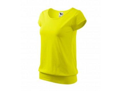 City tričko dámské citronová
