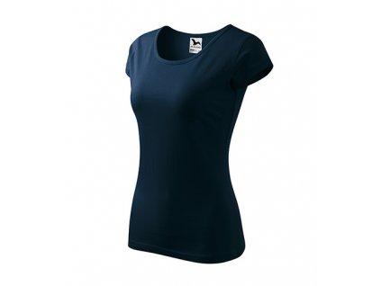 Pure tričko dámské námořní modrá
