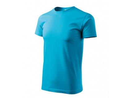 Basic tričko pánské tyrkysová