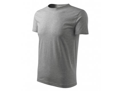 Classic New tričko pánské tmavě šedý melír