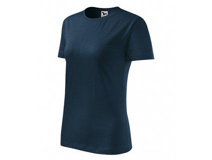 Classic New tričko dámské námořní modrá
