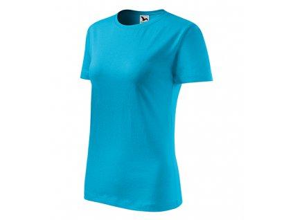 Classic New tričko dámské tyrkysová