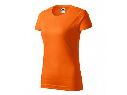 Basic tričko dámské oranžová
