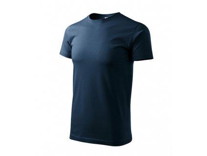 Heavy New tričko unisex námořní modrá