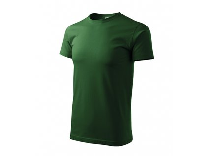 Heavy New tričko unisex lahvově zelená