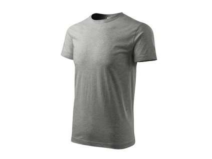 Heavy New tričko unisex tmavě šedý melír