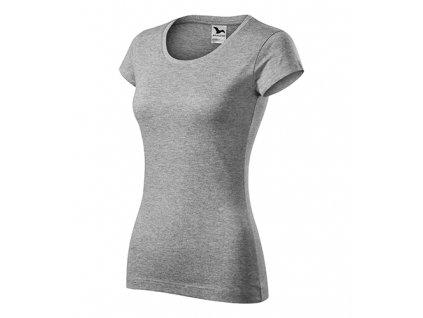 Viper tričko dámské tmavě šedý melír