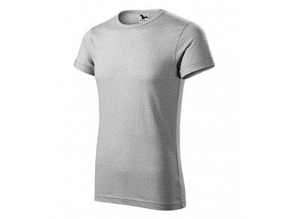 Fusion tričko pánské stříbrný melír