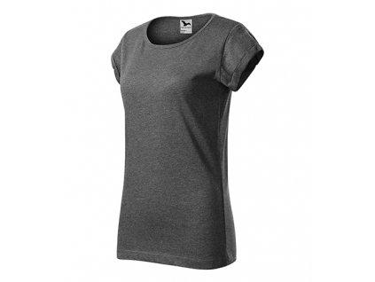 Fusion tričko dámské černý melír