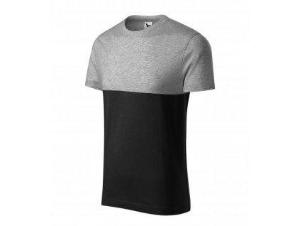 Connection tričko unisex tmavě šedý melír