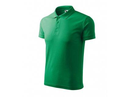 Pique Polo polokošile pánská středně zelená