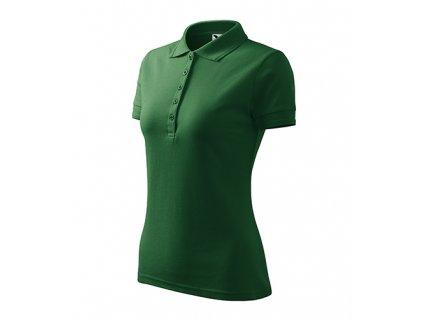Pique Polo polokošile dámská lahvově zelená