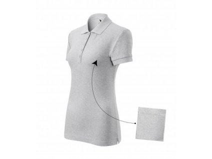Cotton polokošile dámská světle šedý melír