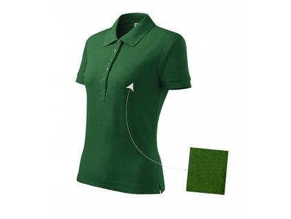 Cotton polokošile dámská lahvově zelená