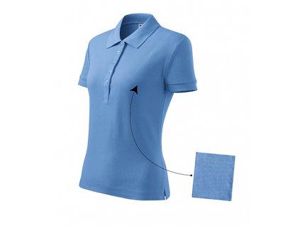 Cotton polokošile dámská nebesky modrá
