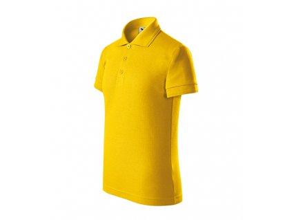 Pique Polo polokošile dětská žlutá