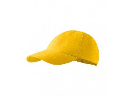 6P čepice unisex žlutá
