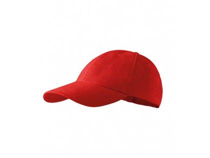 6P čepice unisex červená