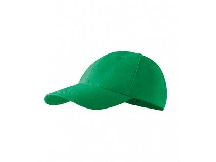 6P čepice unisex středně zelená