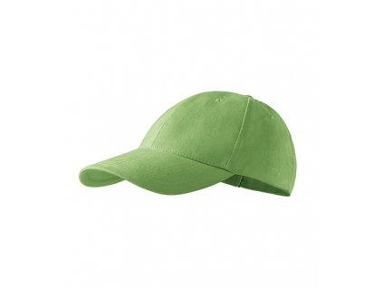 6P čepice unisex trávově zelená