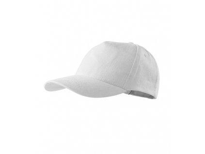 5P čepice unisex bílá