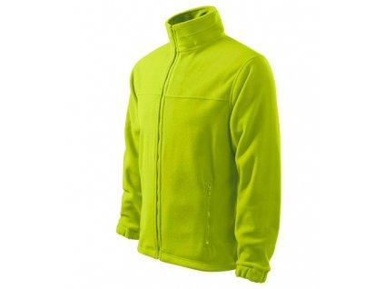 Jacket fleece pánský limetková