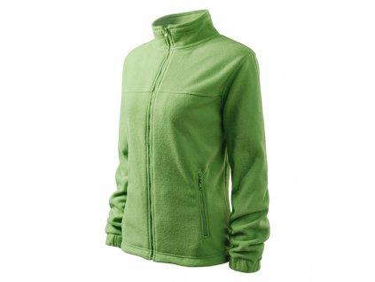 Jacket fleece dámský trávově zelená